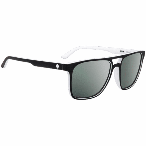 Spy Czar Sunglasses<br>Whitewall/Happy Gray Green W/ Platinum Spectra Mirror