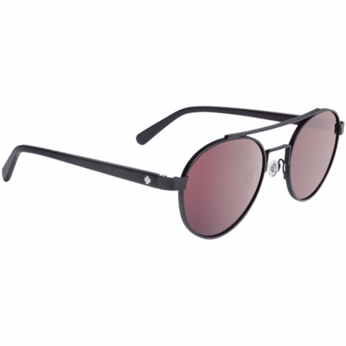 Spy Deco Sunglasses<br>Matte Black/Happy Rose/Light Silver Spectra Mirror