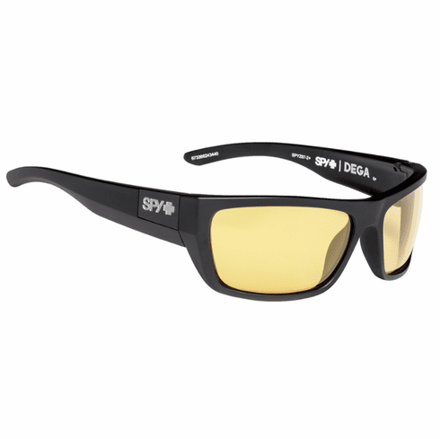 (Sale!!!) Spy Dega Sunglasses<br>Matte Black Ansi/Happy Yellow