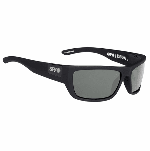 Spy Dega Sunglasses<br>Soft Matte Black/Happy Grey Green