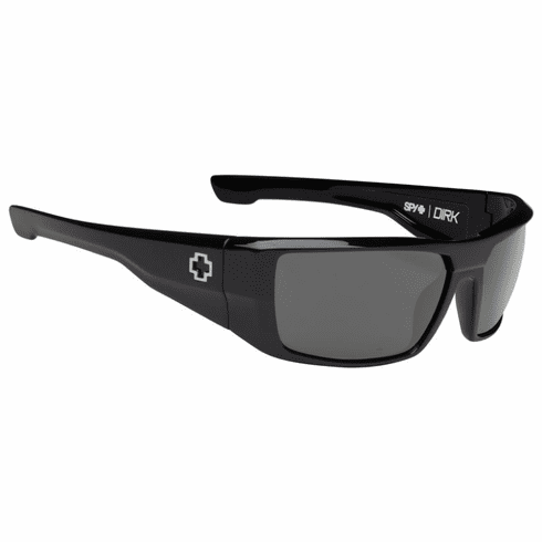 Spy Dirk Sunglasses<br>Black/HD Plus Grey Green Polar