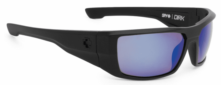 Spy Dirk Sunglasses<br>Matte Black/HD Plus Bronze Polarized w/Blue Spectra Mirror