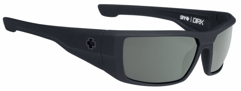 Spy Dirk Sunglasses<br>Soft Matte Black/HD Plus Grey Green