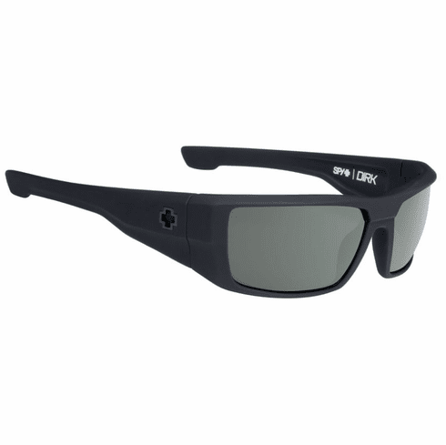 Spy Dirk Sunglasses<br>Soft Matte Black/HD Plus Grey Green Polarized