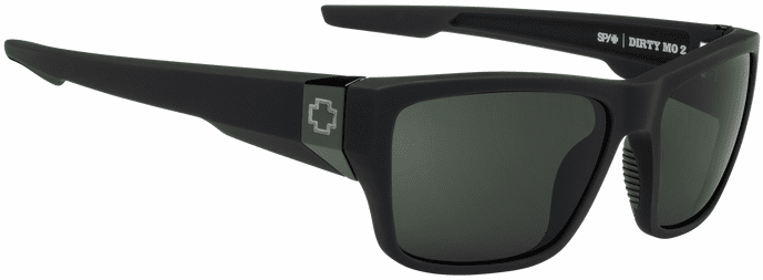 Spy Dirty Mo 2 Sunglasses<br>Soft Matte Black/HD Plus Gray Green Polar