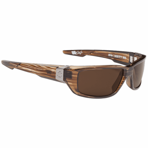 Spy Dirty Mo Sunglasses<br>Brown Stripe Tort/Happy Bronze Polarized