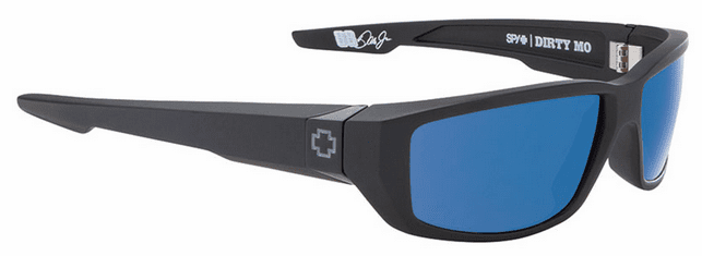 Spy Dirty Mo Sunglasses<br>Matte Black/Happy Bronze Polarized w/Blue Spectra