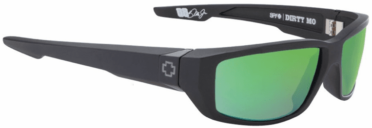 Spy Dirty Mo Sunglasses<br>Matte Black/Happy Bronze Polarized w/Green Spectra