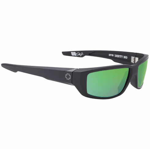 Spy Dirty Mo Sunglasses<br>Matte Black/HD Plus Bronze Polarized w/Green Spectra