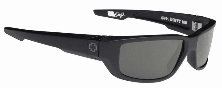 Spy Dirty Mo Sunglasses<br>Soft Matte Black/Happy Grey Green Polar