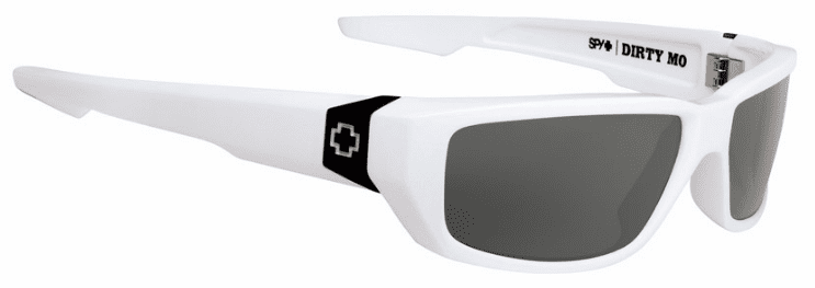 Spy Dirty Mo Sunglasses<br>White/Happy Grey Green