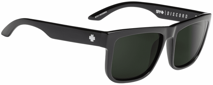 Spy Discord Sunglasses<br>Black/HD Plus Gray Green