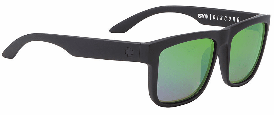 Spy Discord Sunglasses<br>Matte Black/Happy Bronze Polarized Green Spectra