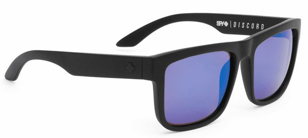 Spy Discord Sunglasses<br>Matte Black/HD Plus Bronze Polarized w/Blue Spectra Mirror