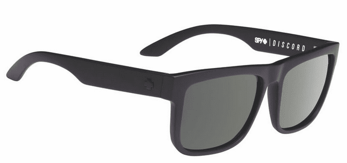 Spy Discord Sunglasses<br>Soft Matte Black/HD Plus Grey Green