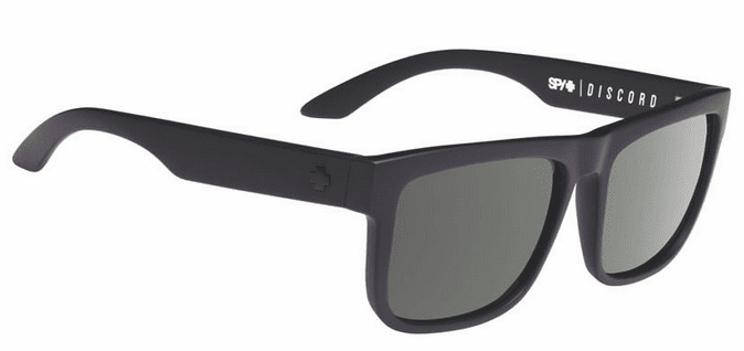 Spy Discord Sunglasses<br>Soft Matte Black/Happy Grey Green Polarized