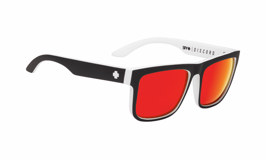 Spy Discord Sunglasses<br>Whitewall/HD Plus Gray Green/Red Spectra Mirror
