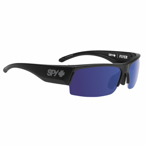 (Sale!!!) Spy Flyer Sunglasses<br>Black/Happy Bronze Polarized w/Dark Blue Spectra<br>+ Happy Rose + Clear Bonus Lenses