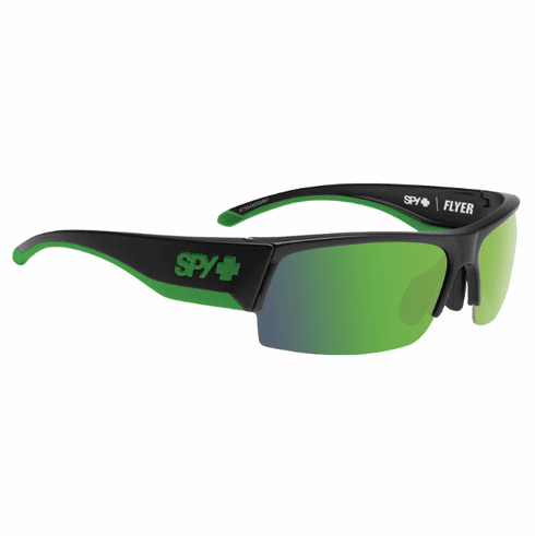 Spy Flyer Sunglasses<br>Green/Happy Bronze w/Green Spectra<br>+ Happy Rose + Clear Bonus Lenses