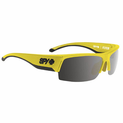 (Sale!!!) Spy Flyer Sunglasses<br>Hi Vis Yellow/Happy Bronze w/Black Mirror<br>+ Happy Rose + Clear Bonus Lenses