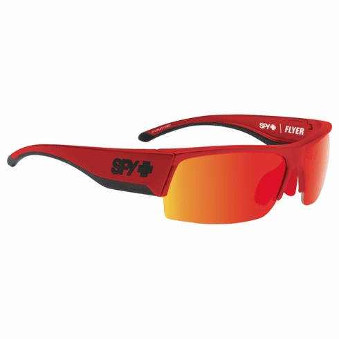 Spy Flyer Sunglasses<br>Red Flash/Happy Grey Green w/Red Spectra<br>+ Happy Rose + Clear Bonus Lenses