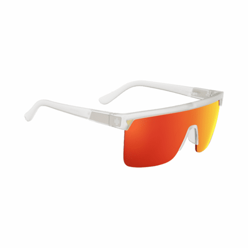 Spy Flynn 50/50 Sunglasses<br>Matte Crystal/HD Plus Gray Green with Red Spectra Mirror