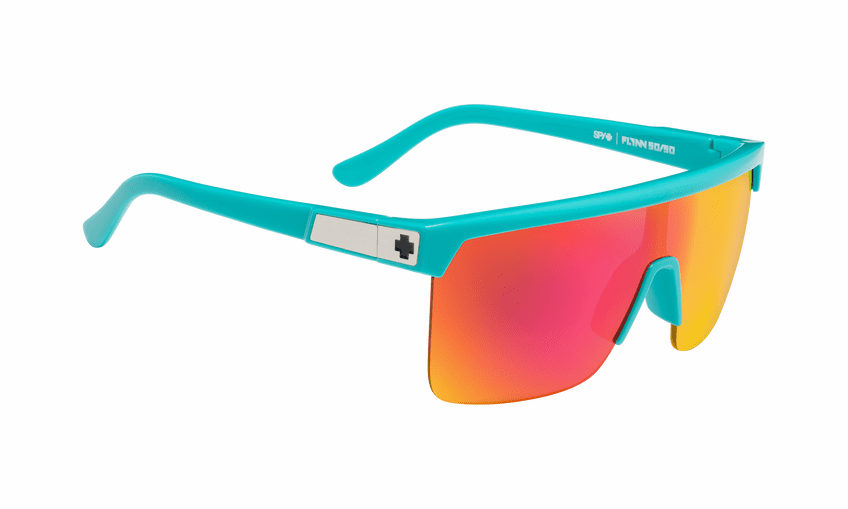 Spy Flynn 50/50 Sunglasses<br>Teal/HD Plus Gray Green with Pink Spectra Mirror