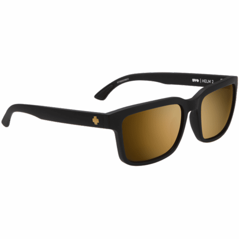 Spy Helm 2 Sunglasses<br>Matte Black/HD Plus Bronze w/Gold Spectra Mirror