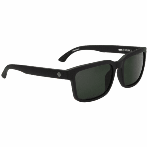 Spy Helm 2 Sunglasses<br>Matte Black/Happy Gray Green Polar