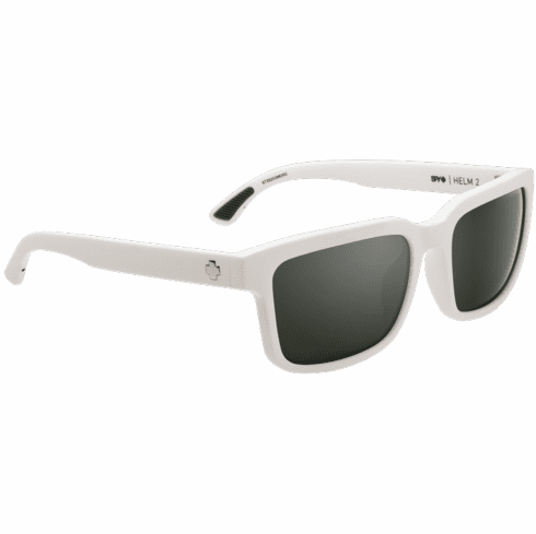 Spy Helm 2 Sunglasses<br>Matte White/Happy Gray Green w/Silver Spectra