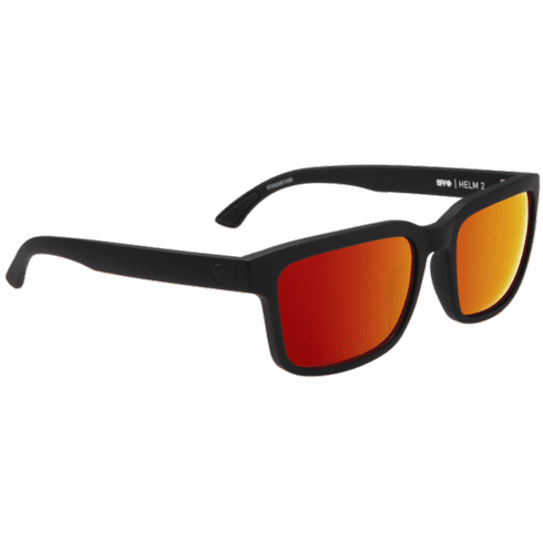Spy Helm 2 Sunglasses<br>Matte Black/Happy Gray Green w/Red Spectra
