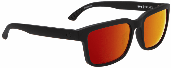 Spy Helm 2 Sunglasses<br>Soft Matte Black/Happy Gray Green w/Red Spectra