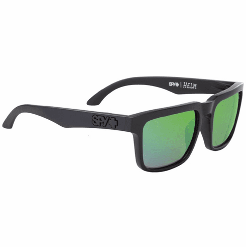 Spy Helm Sunglasses<br> Matte Black/HD Plus Bronze Polarized w/Green Spectra Mirror