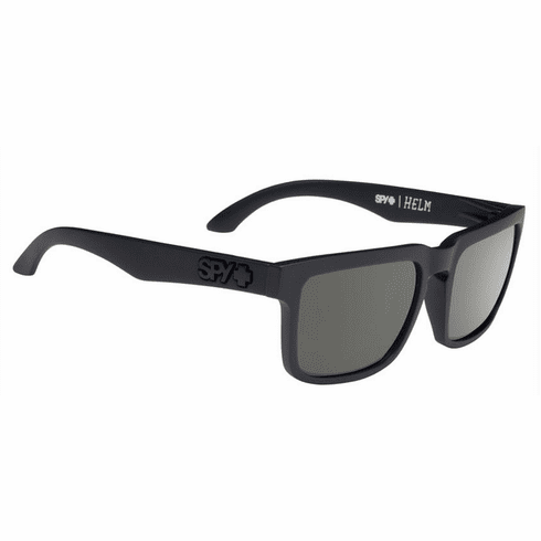 Spy Helm Sunglasses<br>Soft Matte Black/Happy Grey Green Polarized
