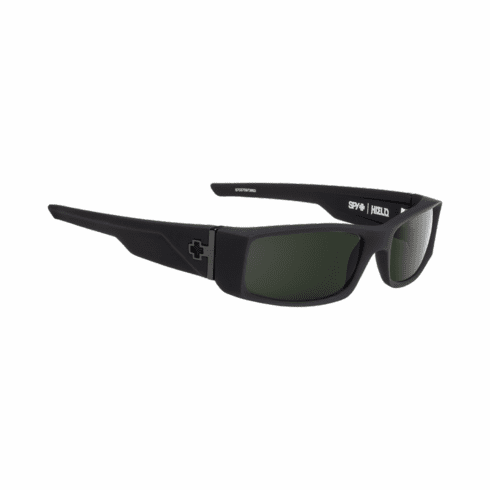 Spy Hielo Sunglasses<br>Soft Matte Black/Happy Gray Green