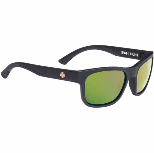 Spy Hunt Sunglasses<br>Matte Black/Happy Rose Polar w/Green Gold Spectra