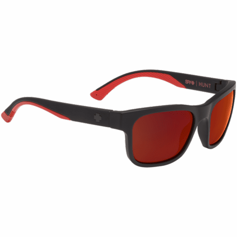 Spy Hunt Sunglasses<br>Matte Black Red Fade/Happy Gray Green w/Red Flash