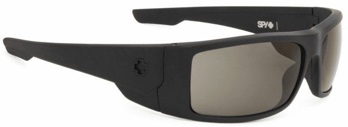 Spy Konvoy Sunglasses<br>Matte Black/Happy Grey-Green Polarized