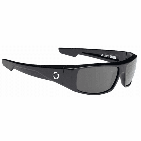 Spy Logan Sunglasses<br>Black/Happy Grey Green