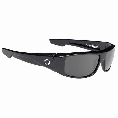 Spy Logan Sunglasses<br>Black/Happy Grey Green Polar