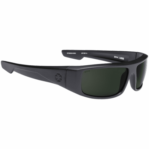 Spy Logan Sunglasses<br>Matte Black Ansi Rx/HD Plus Gray Green