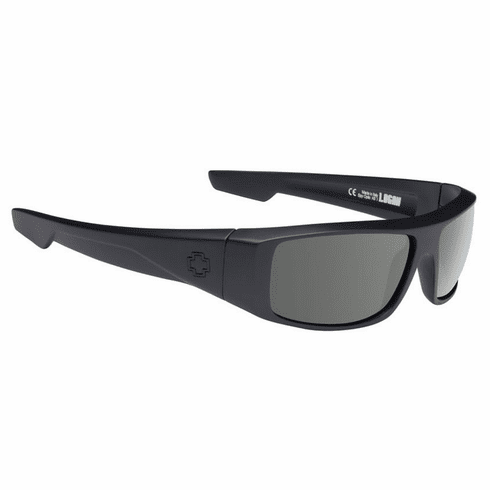 Spy Logan Sunglasses<br>Soft Matte Black/HD Plus Grey Green