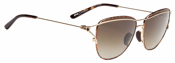 Spy Marina Sunglasses<br>Gold Tortoise/Happy Bronze Fade