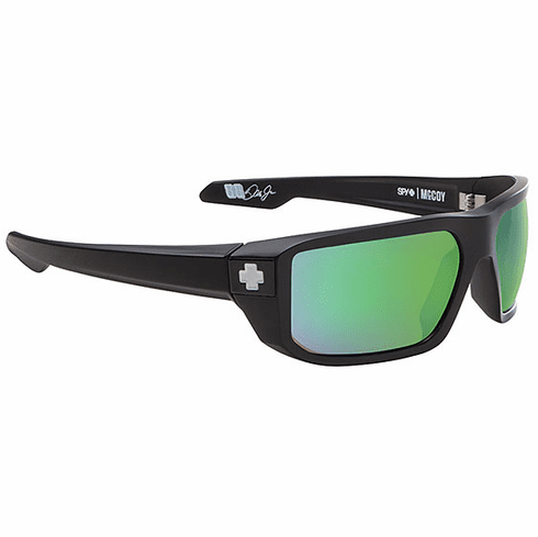 Spy Mccoy Sunglasses<br>Matte Black/Happy Bronze Polarized-Green Spectra