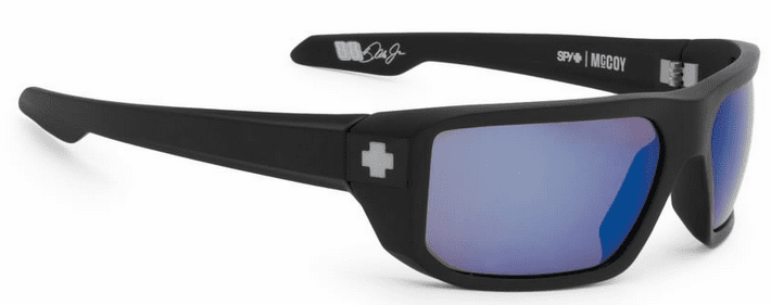 Spy McCoy Sunglasses<br>Matte Black/HD Plus Bronze Polarized w/Blue Spectra