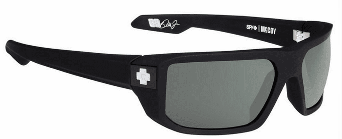 Spy Mccoy Sunglasses<br>Soft Matte Black/Happy Grey Green