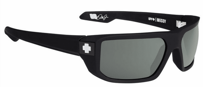 Spy Mccoy Sunglasses<br>Soft Matte Black/Happy Grey Green Polarized