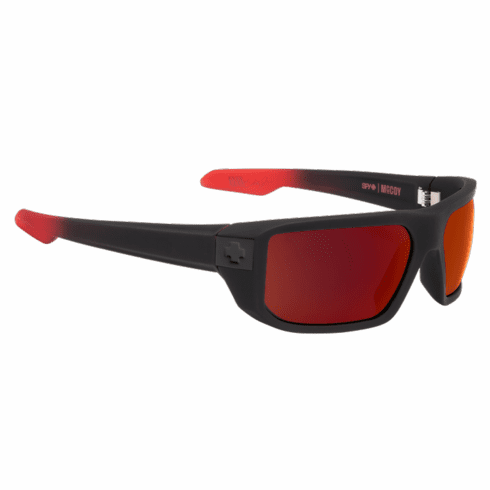 (Sale!!!) Spy Mccoy Sunglasses<br>Soft Matte Black Red Fade/Happy Gray Green w/Red Flash