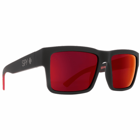 Spy Montana Sunglasses<br>Soft Matte Black Red Fade/Happy Gray Green w Red Flash