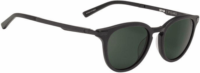 Spy Pismo Sunglasses<br>Matte Black/Happy Gray Green